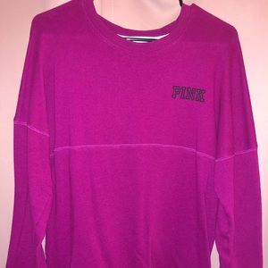 PINK Long Sleeve Sweatshirt Size Small